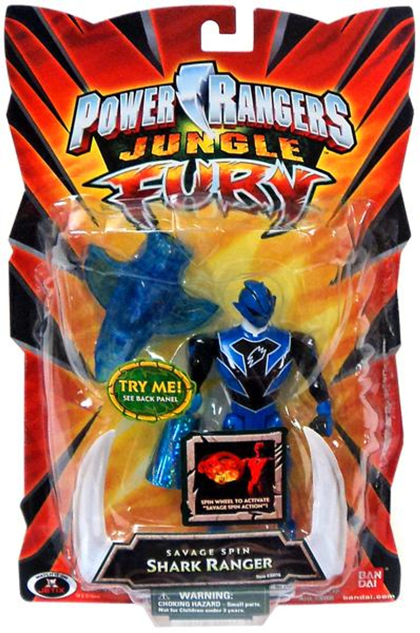 Power Rangers Jungle Fury Savage Spin Shark Ranger Action Figure