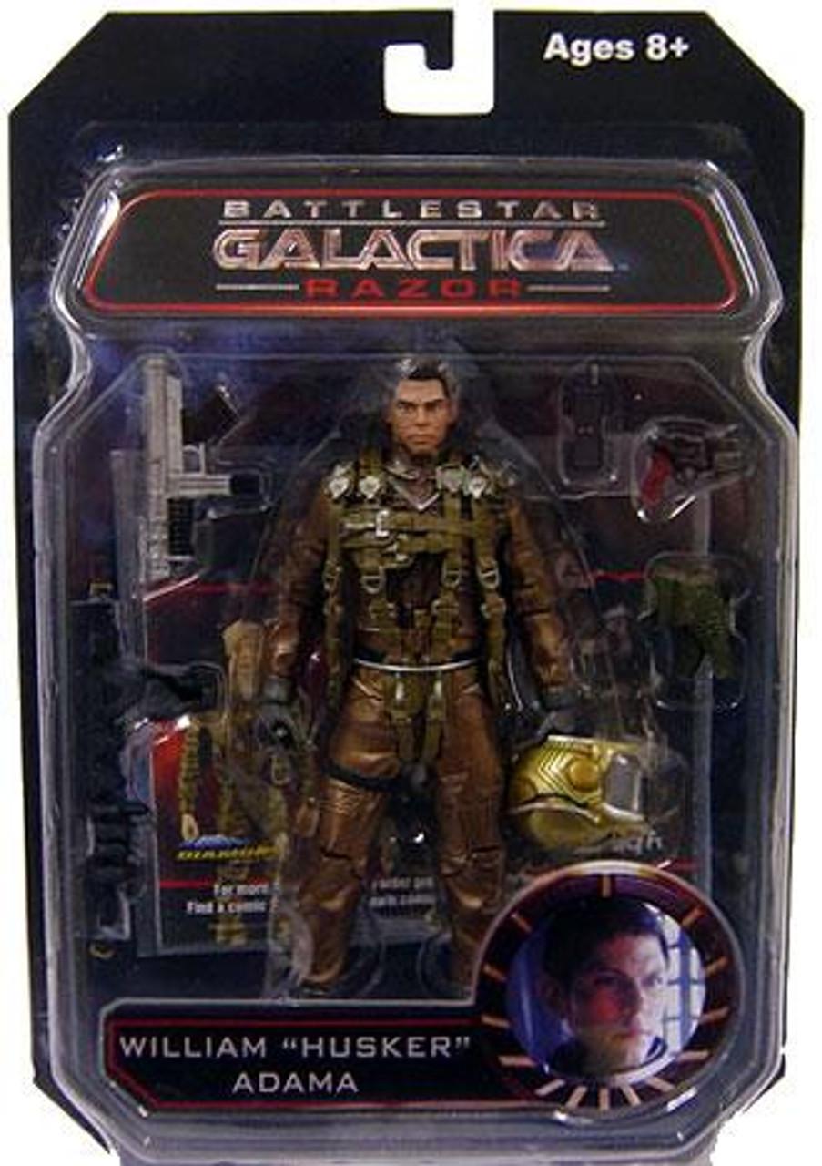 "Battlestar Galactica Series 3 Razor William ""Husker"" Adama Action Figure"