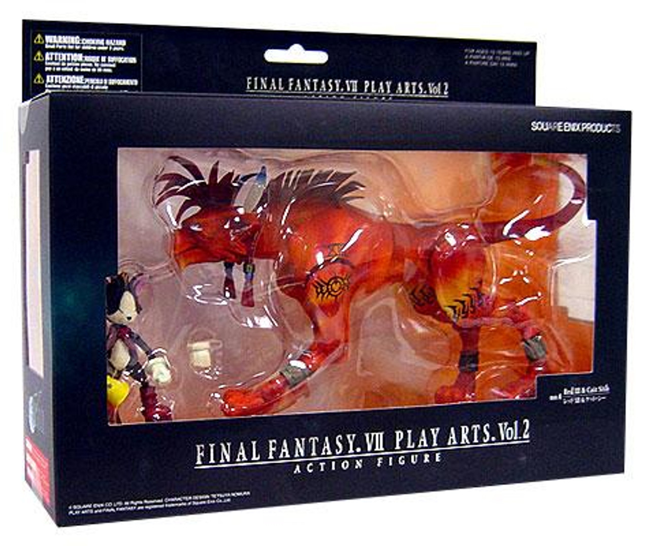 Final Fantasy VII Advent Children Play Arts Kai Vol. 2 Red XIII & Cait Sith Action Figure Set