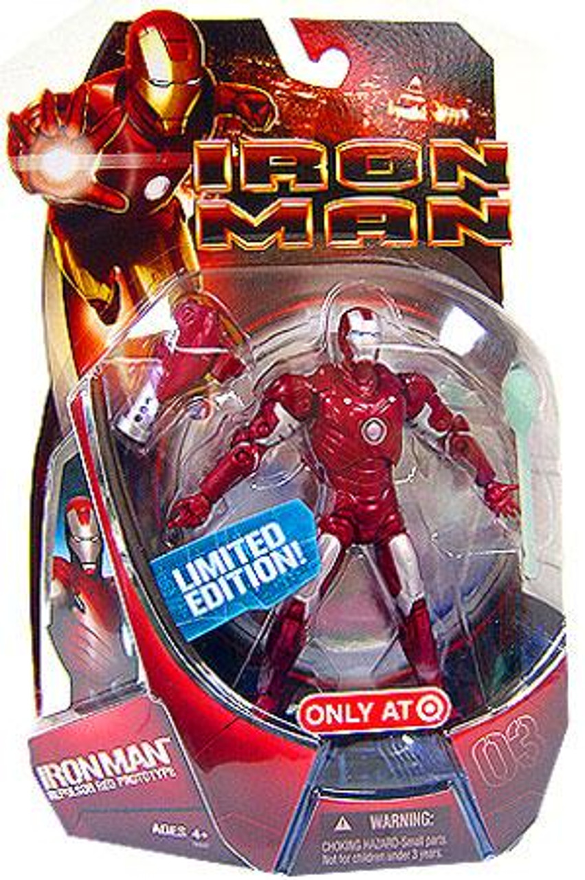 Iron Man Movie Repulsor Red Prototype Iron Man Exclusive Action Figure