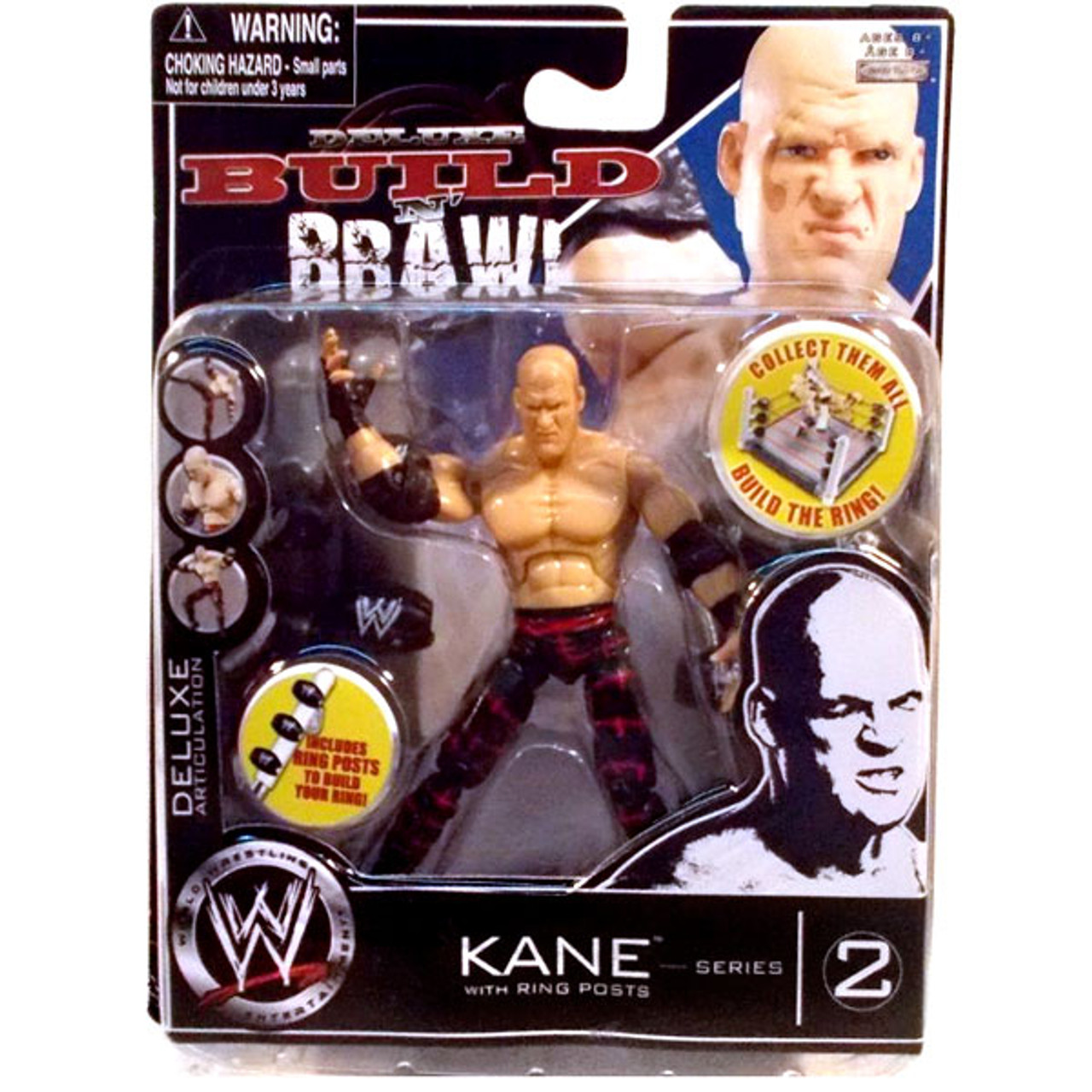 WWE Wrestling Build N' Brawl Series 2 Kane Action Figure