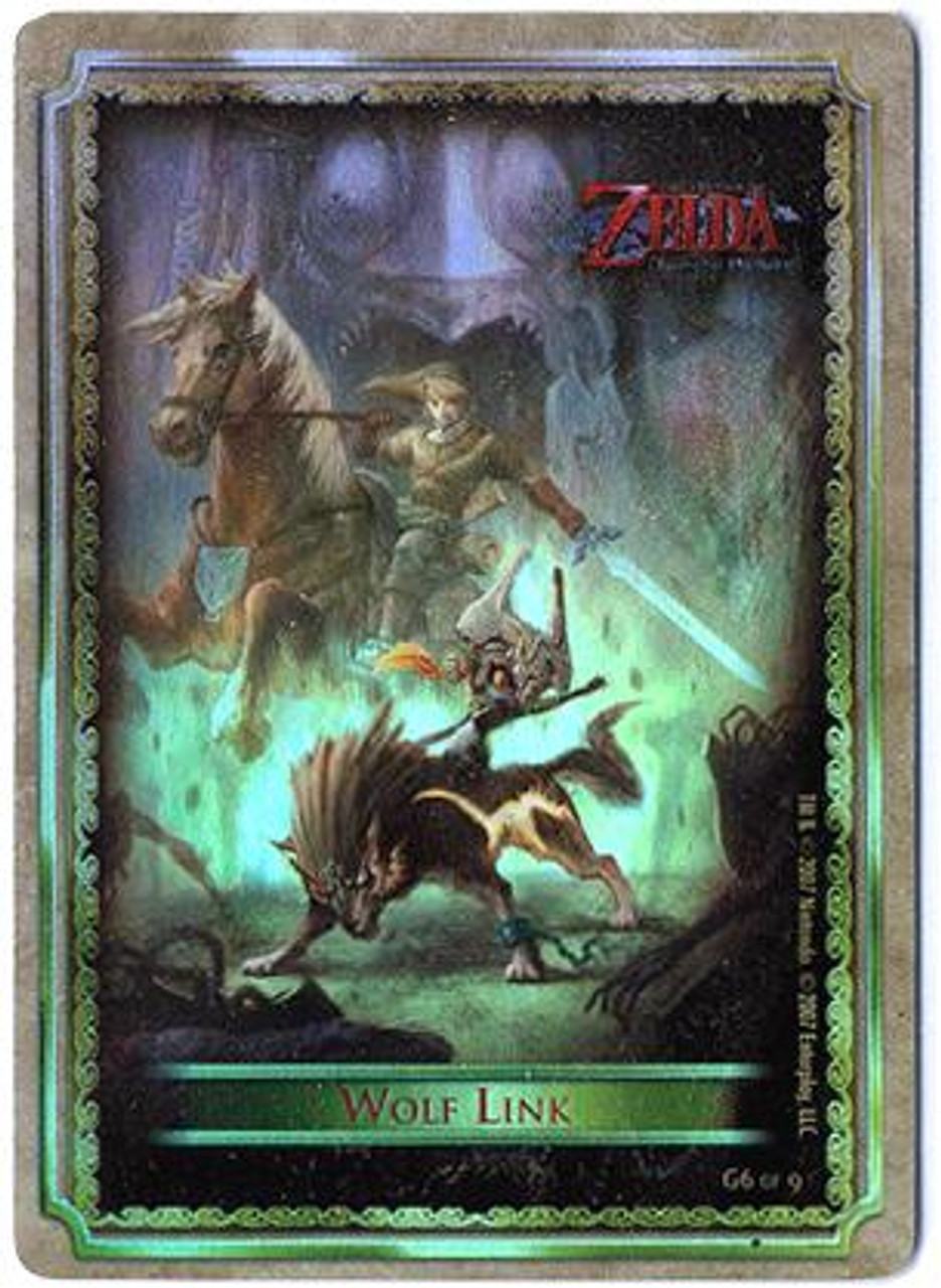 The Legend of Zelda Twilight Princess Gold Chase Wolf Link G6 of 9