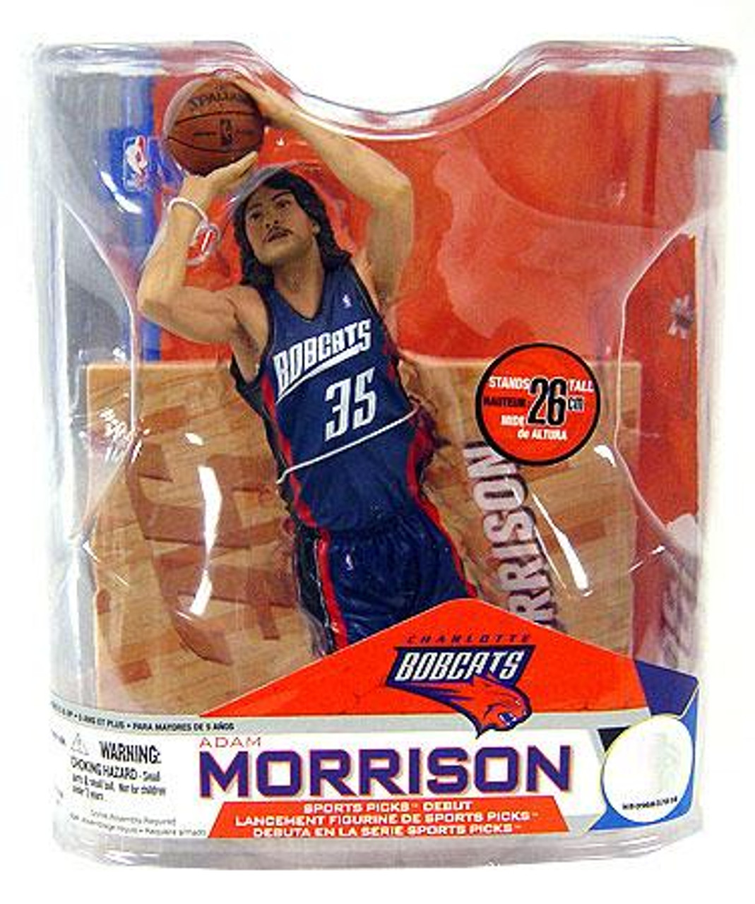 McFarlane Toys NBA Charlotte Bobcats Sports Picks Series 14 Adam Morrison Action Figure [Blue Jersey Variant]