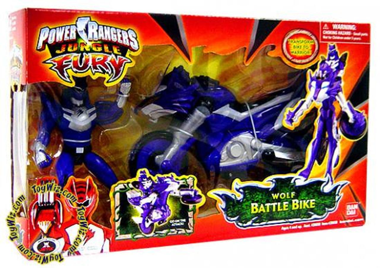 Power Rangers Jungle Fury Wolf Battle Bike Action Figure Vehicle