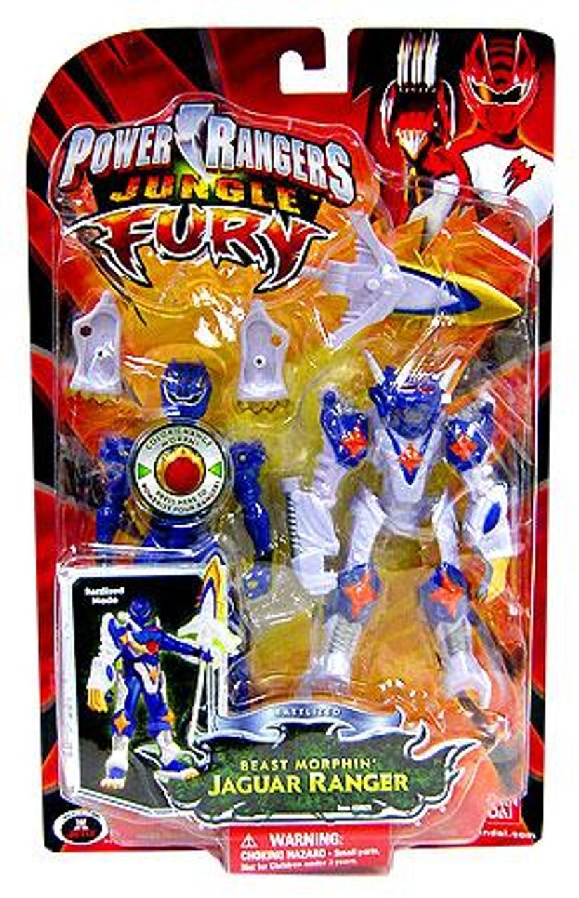 Power Rangers Jungle Fury Battlized Beast Morphin Jaguar Ranger Action Figure