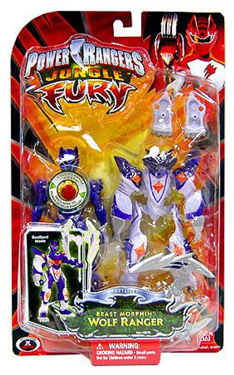 Power Rangers Jungle Fury Battlized Beast Morphin Wolf Ranger Action Figure
