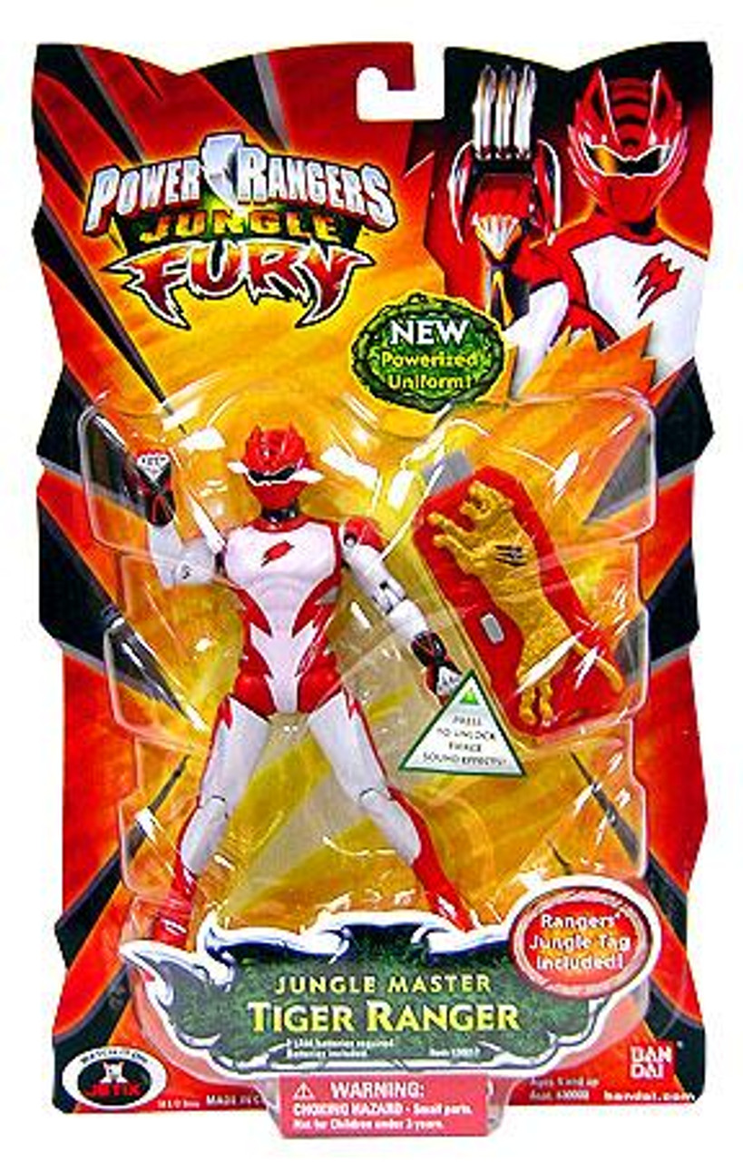 Power Rangers Jungle Fury Jungle Master Tiger Ranger Action Figure