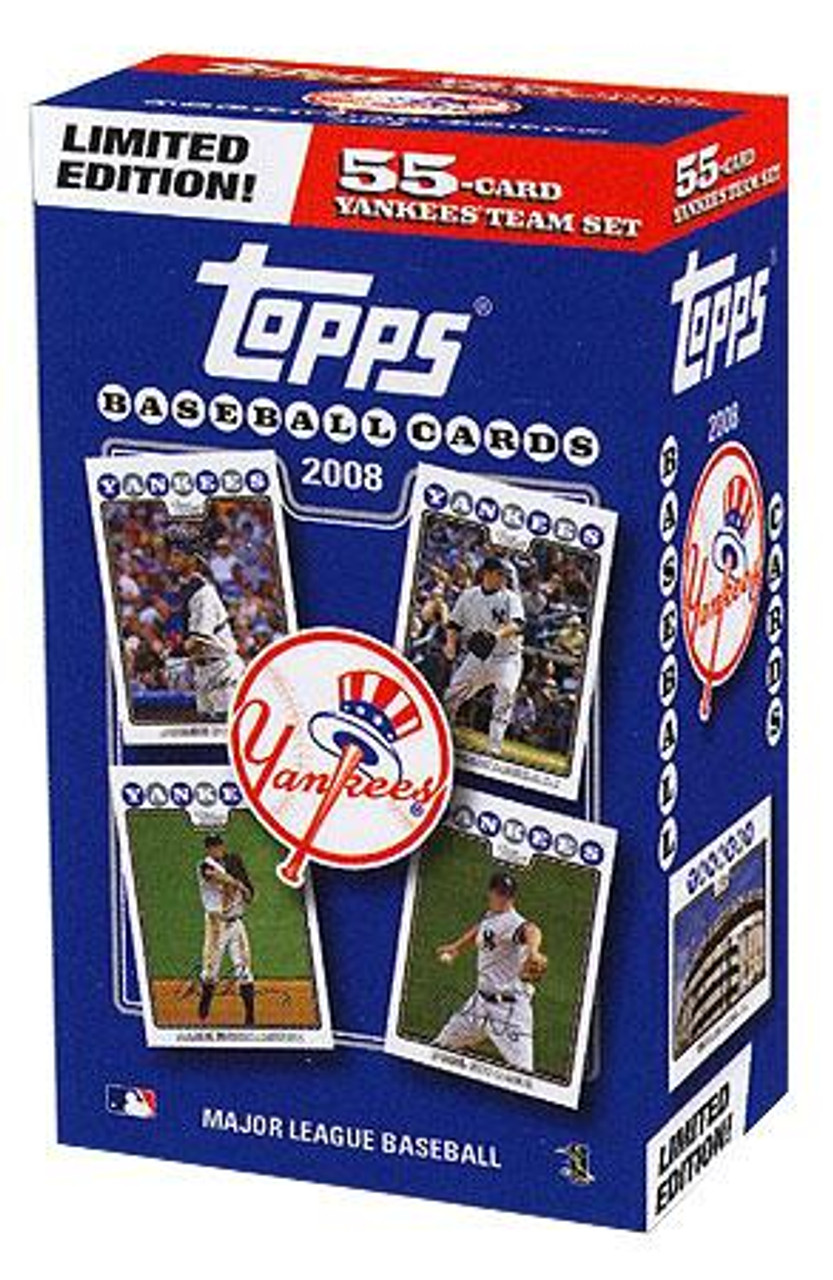 MLB 2008 Topps Baseball Cards New York Yankees Team Set [Collector's Edition]