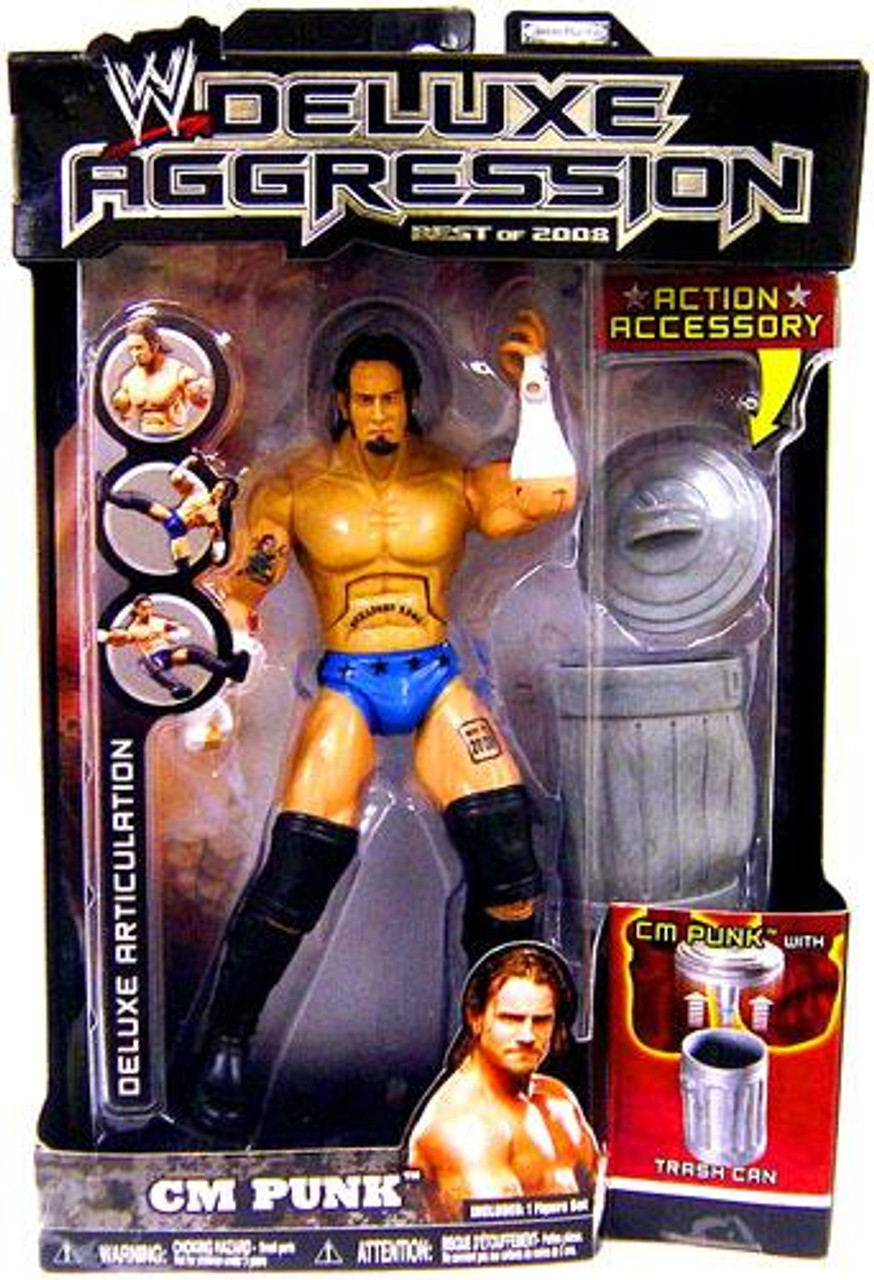 WWE Wrestling Deluxe Aggression Best of 2008 CM Punk Action Figure
