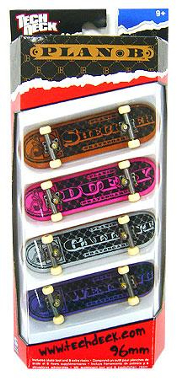 Tech Deck Plan B 96mm Mini Skateboard 4-Pack [Ryan Sheckler, Duffy, Gallant & Wenning]