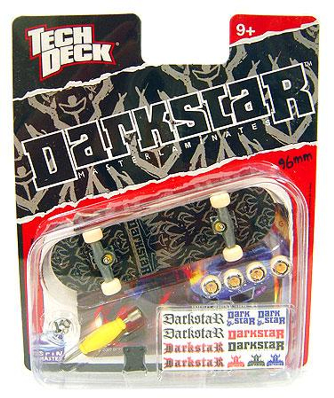 Tech Deck Darkstar 96mm Mini Skateboard [Black & Gray]