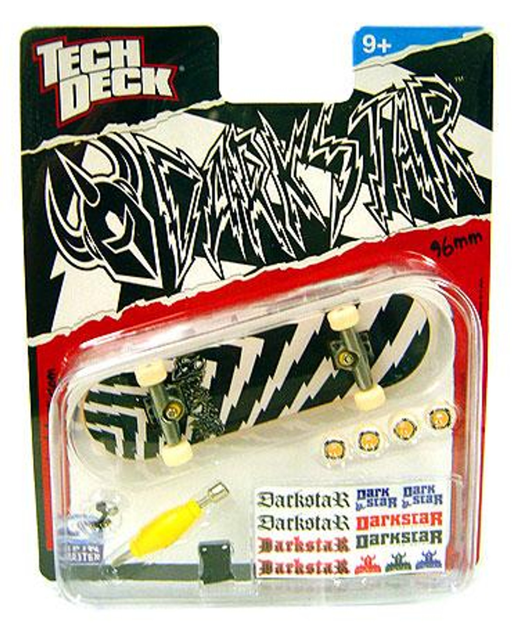 Tech Deck Darkstar 96mm Mini Skateboard [Black & White Zig-Zag]