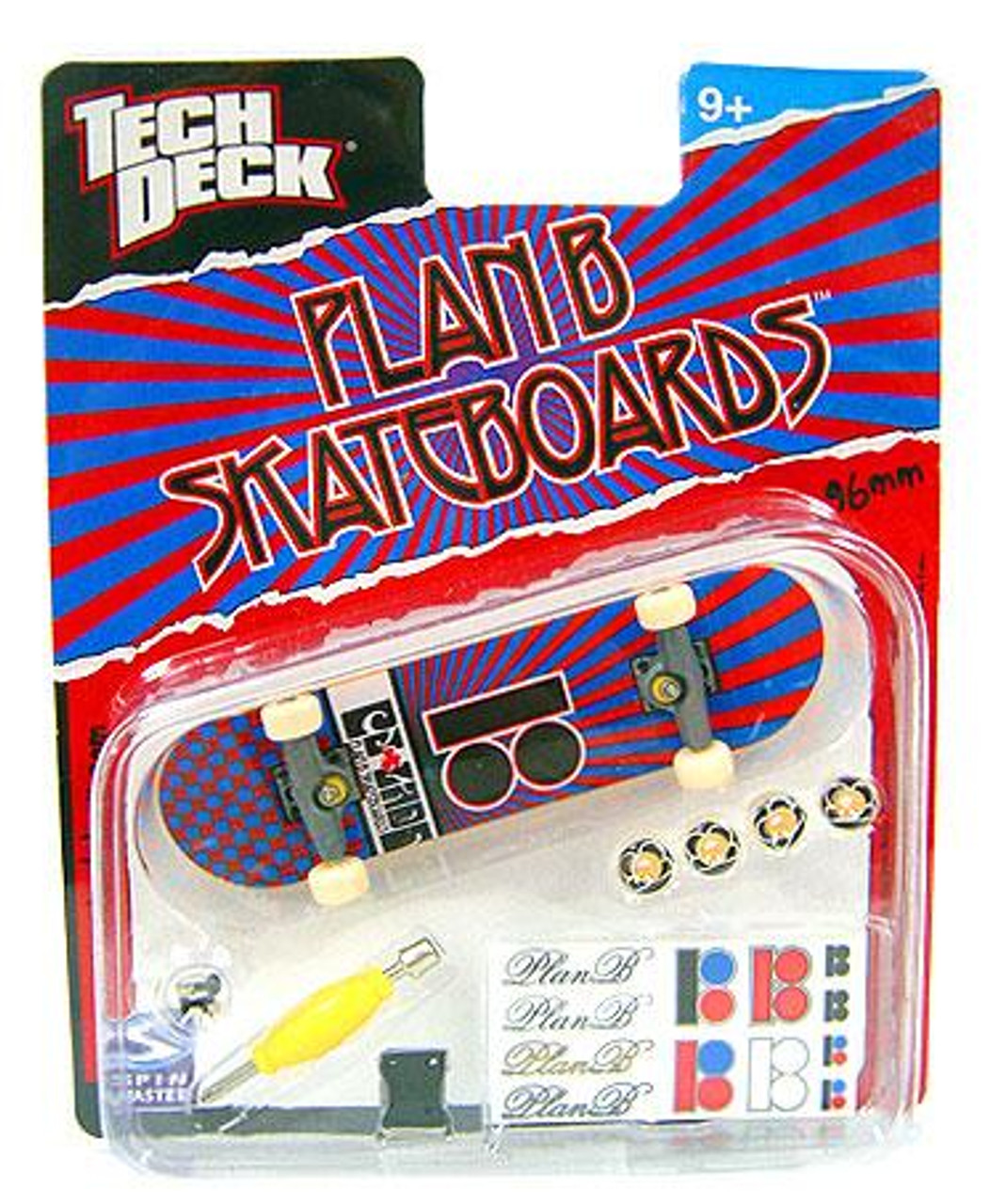 Tech Deck Plan B 96mm Mini Skateboard [Red & Blue]