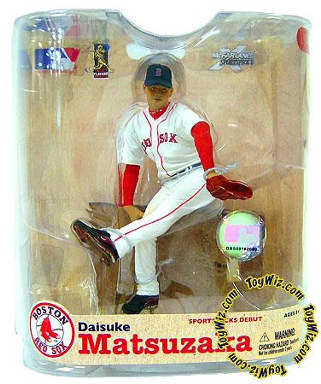 McFarlane Toys MLB Boston Red Sox Sports Picks Series 21 Daisuke Matsuzaka Action Figure [White Jersey & Patch]