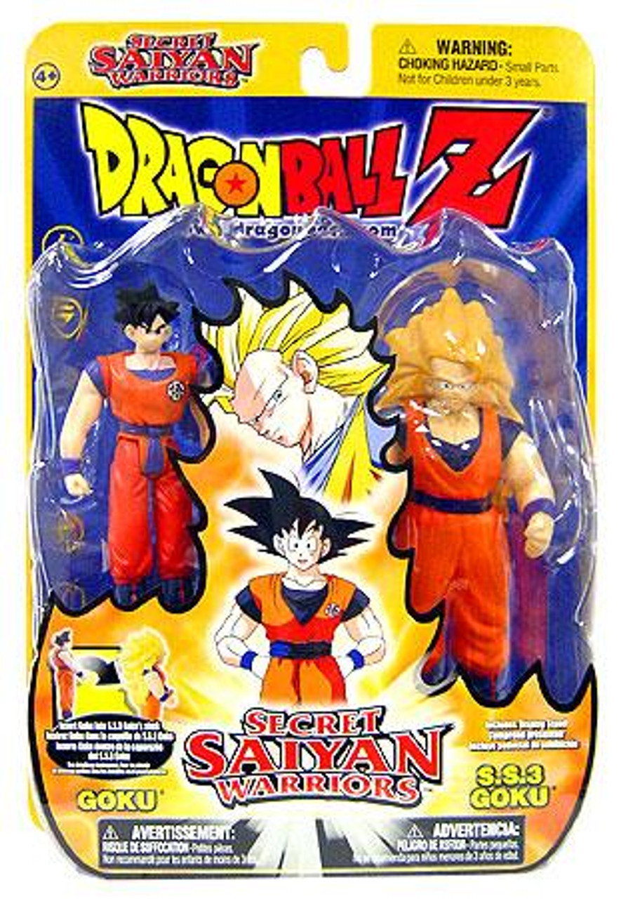 Dragon Ball Z Secret Saiyan Warriors Goku & SS3 Goku Action Figure 2-Pack