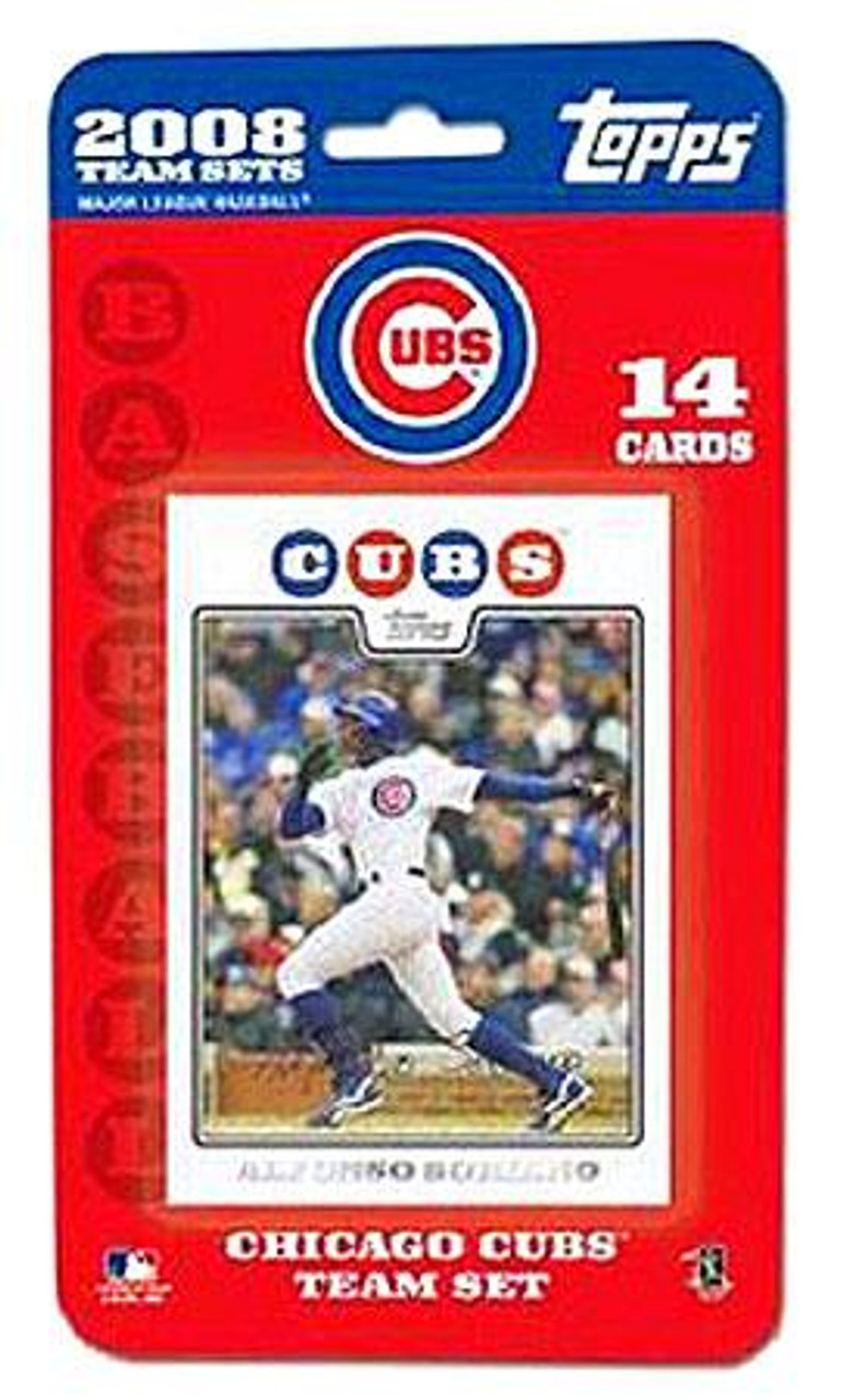 MLB 2008 Topps Baseball Cards Chicago Cubs Team Set