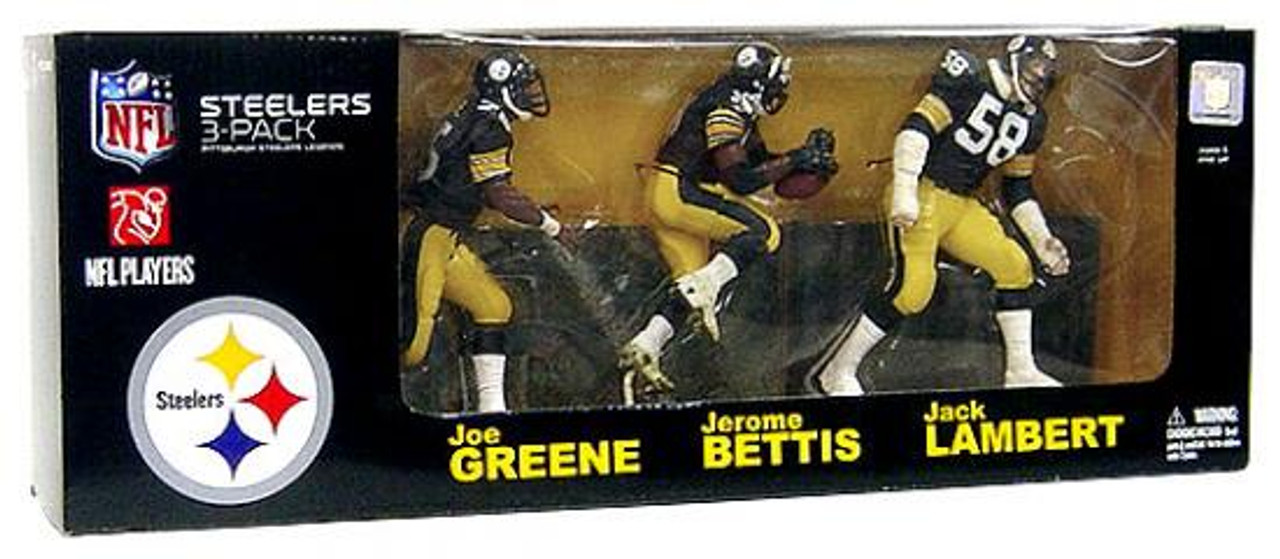 McFarlane Toys NFL Sports Picks 3-Packs Pittsburgh Steelers Legends Exclusive Action Figure 3-Pack