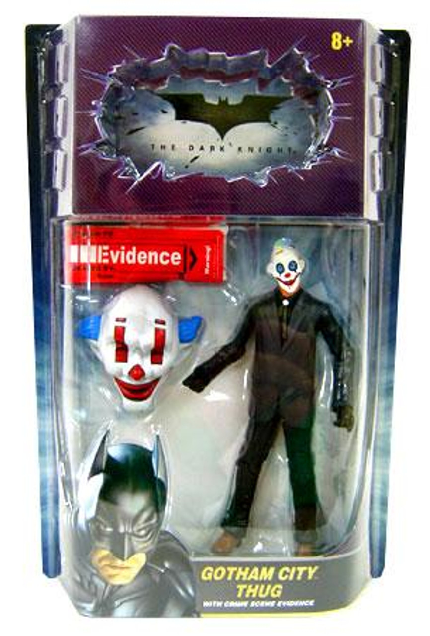 Batman The Dark Knight Crime Scene Evidence Gotham City Thug Action Figure [Happy Mask, Hair on Sides]