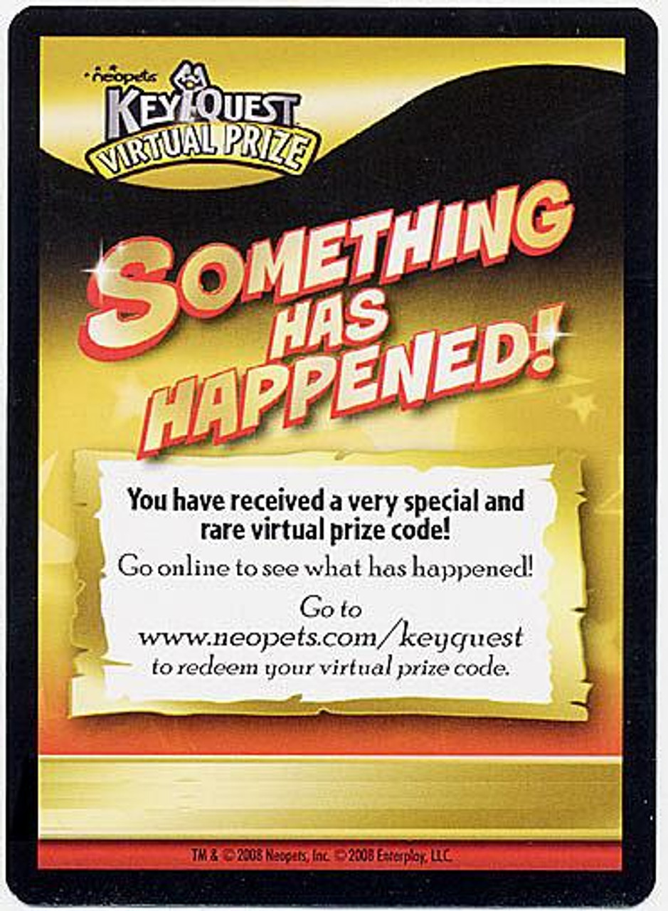 Neopets KeyQuest Very Special & Rare Virtual Prize Code Card