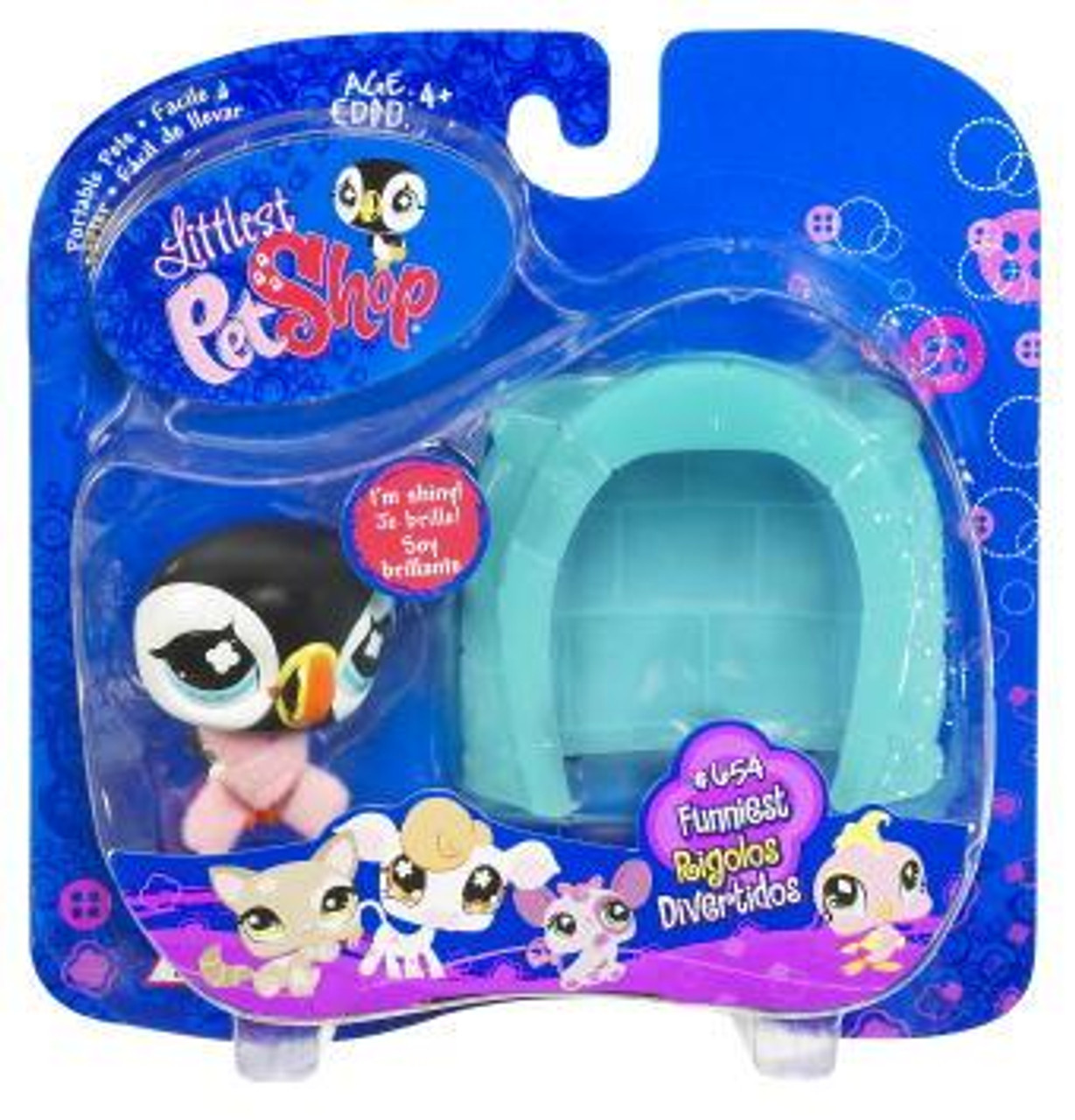 Littlest Pet Shop Portable Pets Puffin Figure [Igloo]