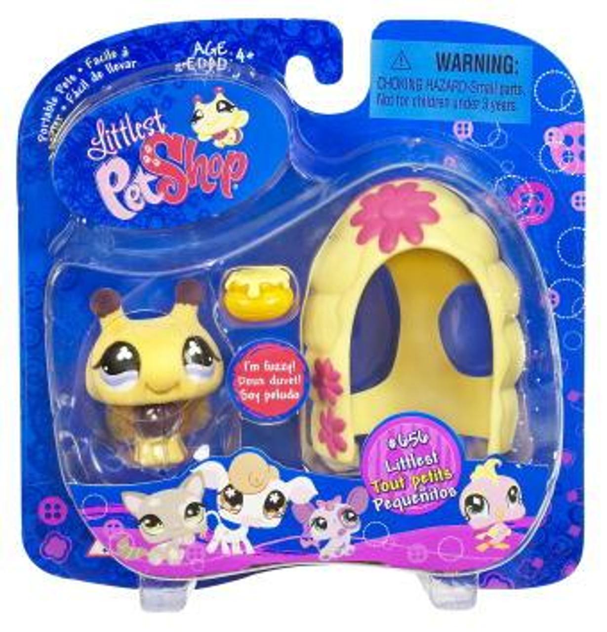 Littlest Pet Shop Portable Pets Bee Figure #656 [Hive & Honey Bowl]