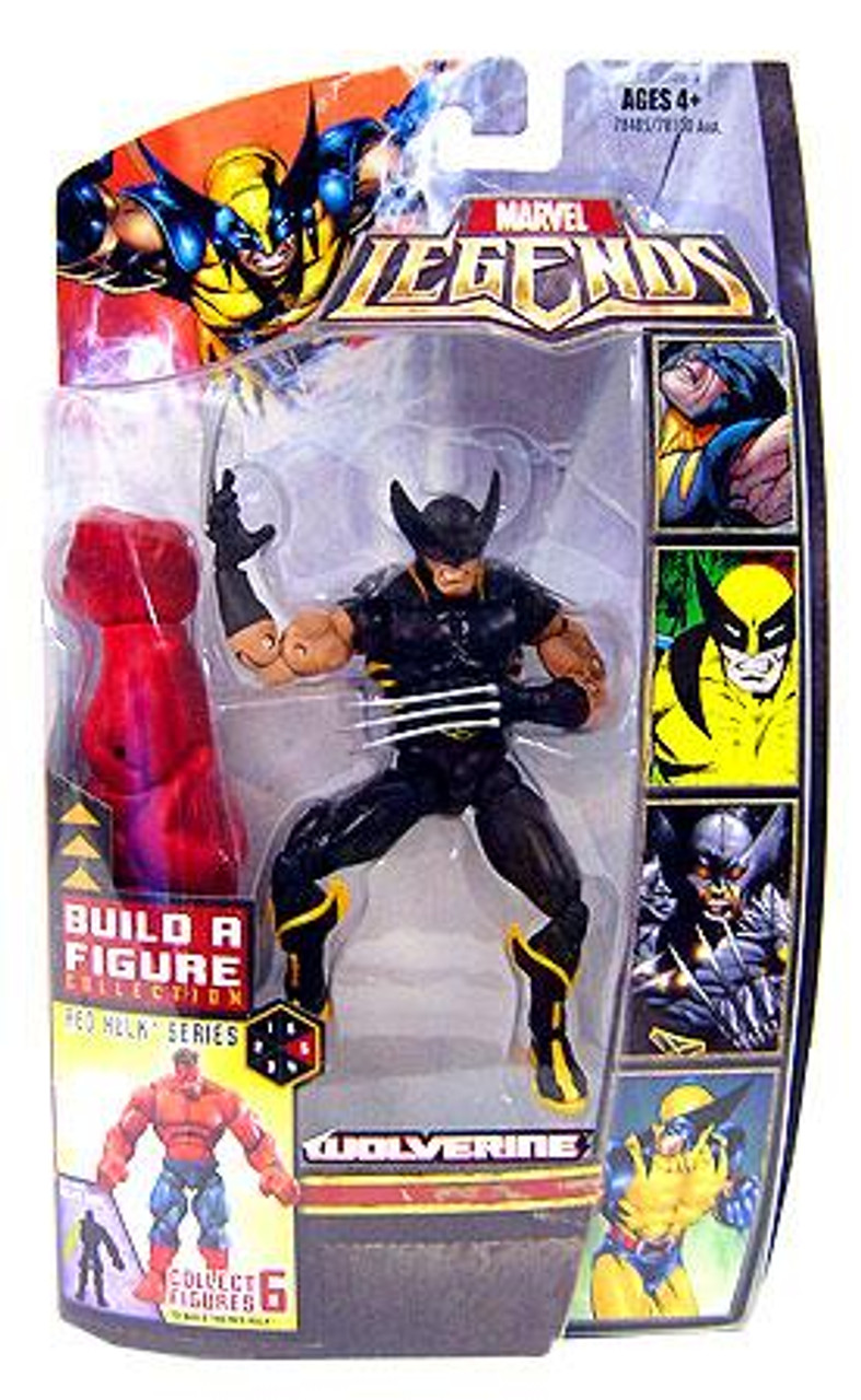 Marvel Legends Red Hulk Build a Figure Black Wolverine Exclusive Action Figure