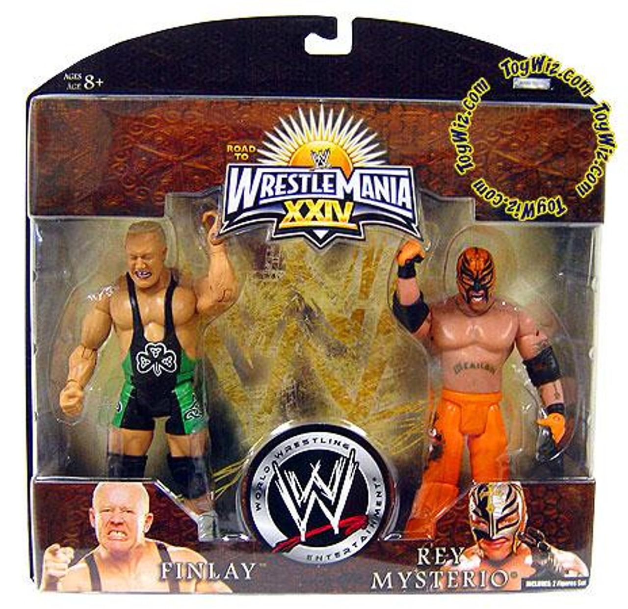 WWE Wrestling Road to WrestleMania 24 Series 2 Finlay & Rey Mysterio Exclusive Action Figure 2-Pack