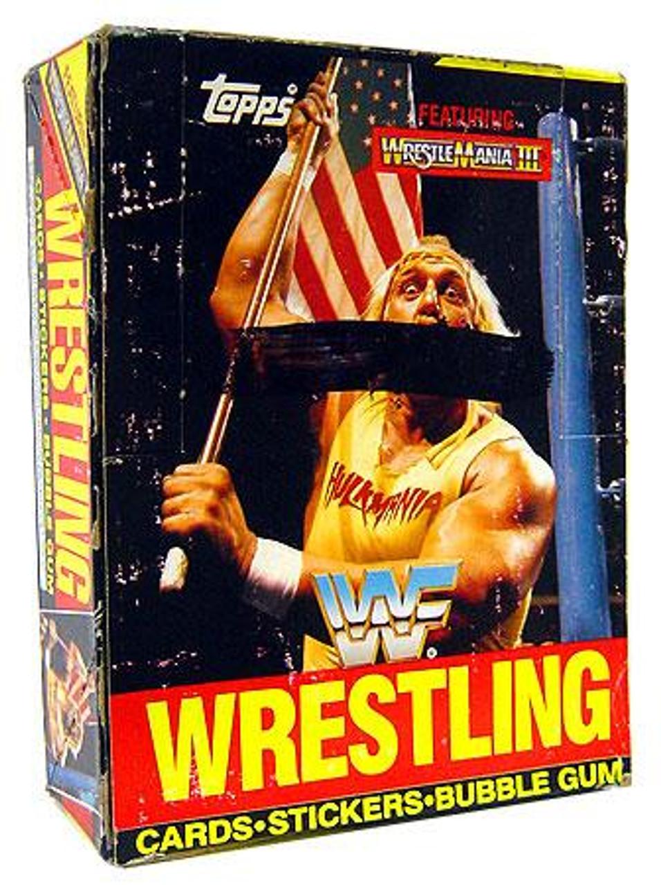 WWE Wrestling WWF 1987 Wrestlemania III Wax Box Trading Card Box