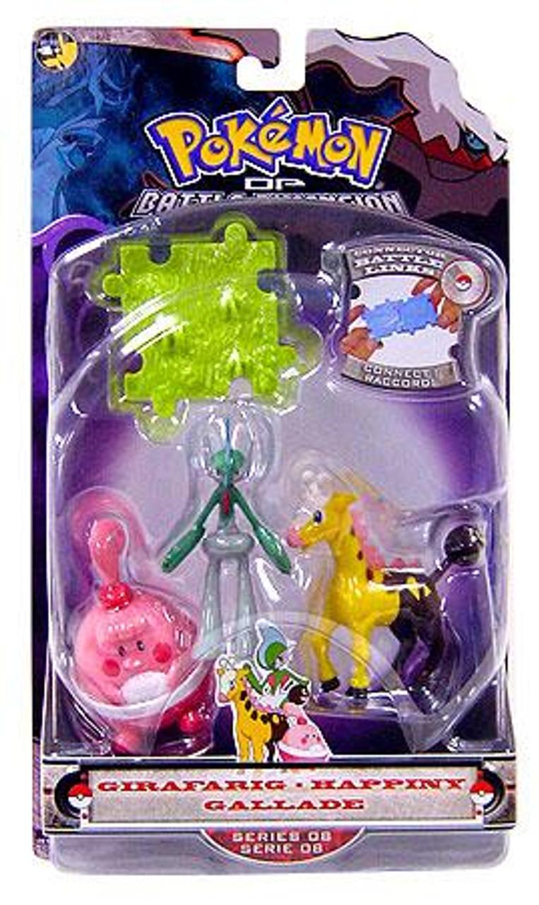 Pokemon Diamond & Pearl Series 8 Girafarig, Gallade & Happiny Figure 3-Pack