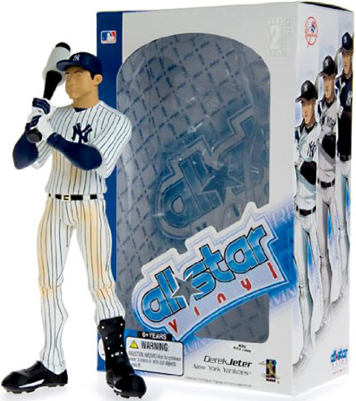 MLB New York Yankees All Star Vinyl Derek Jeter Vinyl Figure [Pinstripe Jersey]