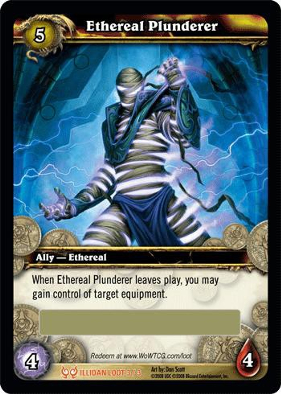 World of Warcraft Trading Card Game The Hunt for Illidan Legendary Loot Ethereal Plunderer #3