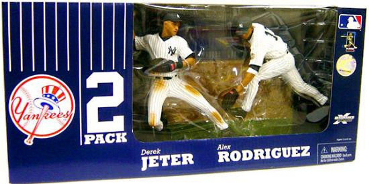 McFarlane Toys MLB New York Yankees Sports Picks Exclusive 2-Pack Derek Jeter & Alex Rodriguez Exclusive Action Figure 2-Pack