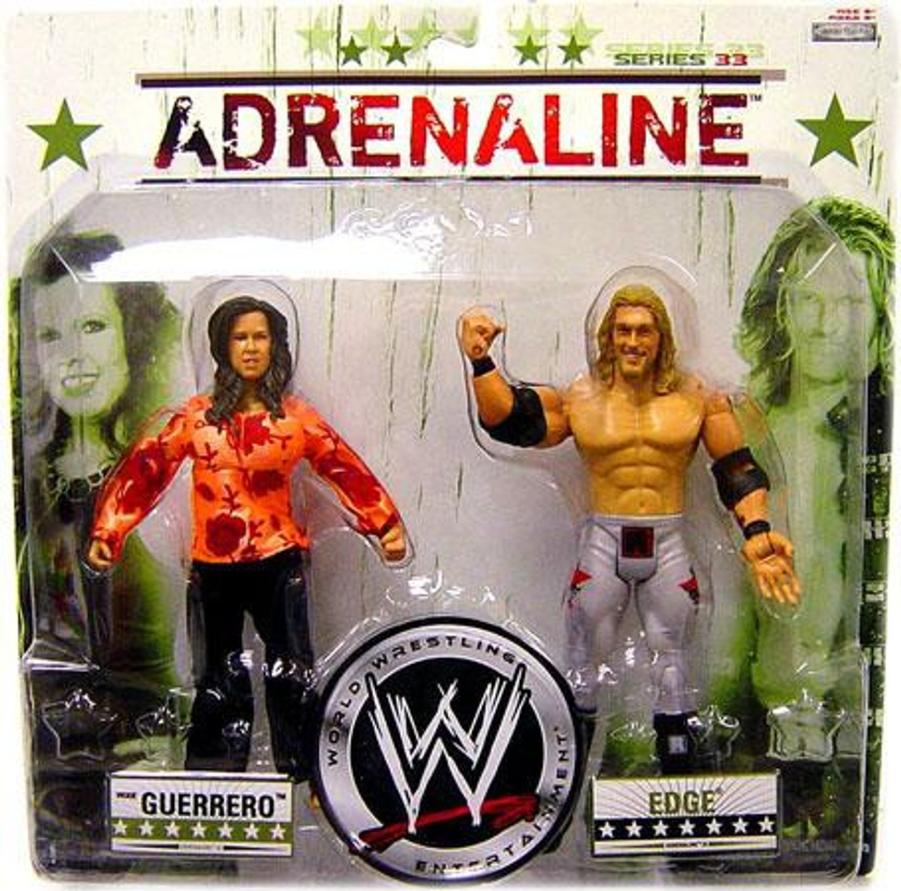 WWE Wrestling Adrenaline Series 33 Vickie Guerrero & Edge Action Figure 2-Pack