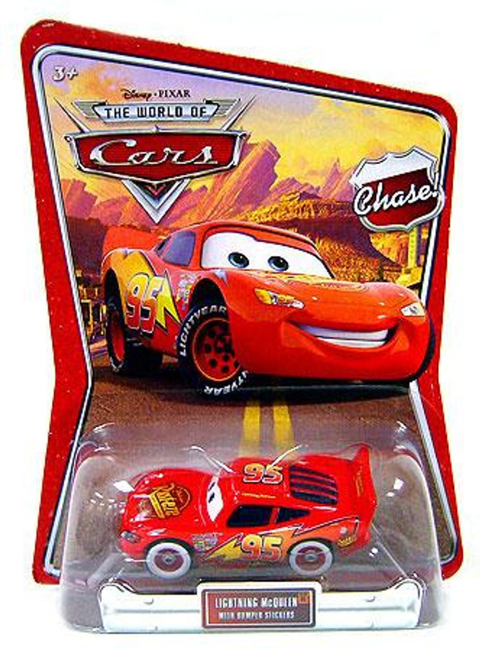 Disney Cars The World of Cars Lightning McQueen with Bumper Stickers Diecast Car