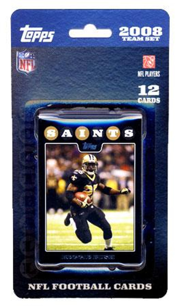 NFL 2008 Topps Football Cards New Orleans Saints Team Set