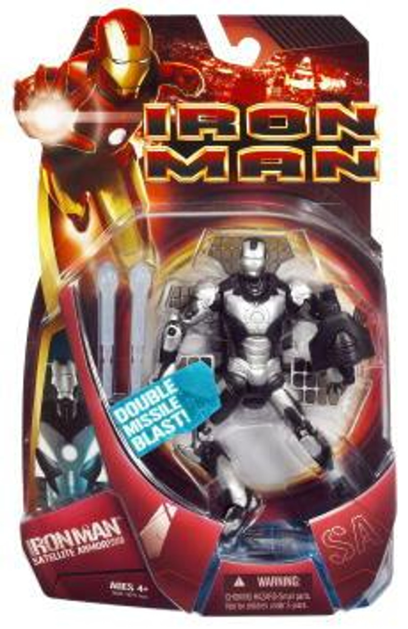 Iron Man Movie Satellite Armor Iron Man Action Figure [Silver Armor]