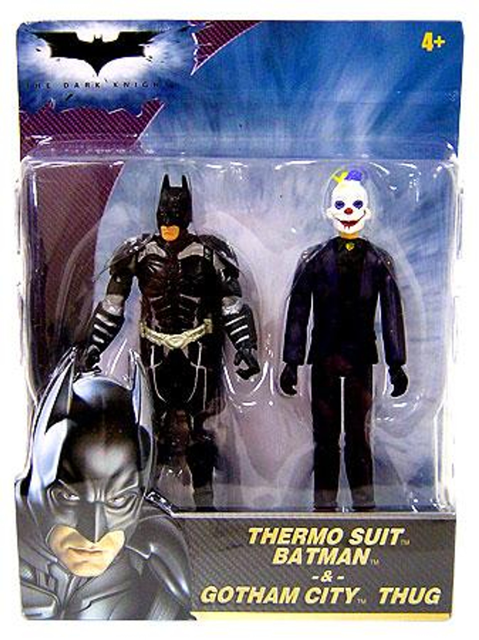 The Dark Knight Thermo Suit Batman & Gotham City Thug Mini Figure 2-Pack