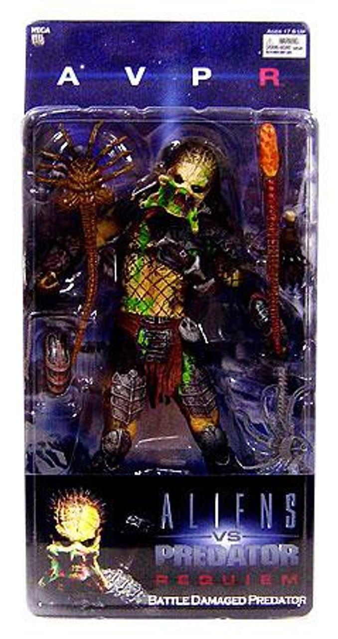 NECA Alien vs Predator AVP Requiem Series 4 Battle Damaged Predator Action Figure [Unmasked Wolf]