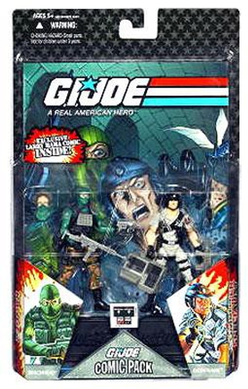 GI Joe 25th Anniversary Wave 6 Comic Pack Beachhead & Dataframe Action Figure 2-Pack