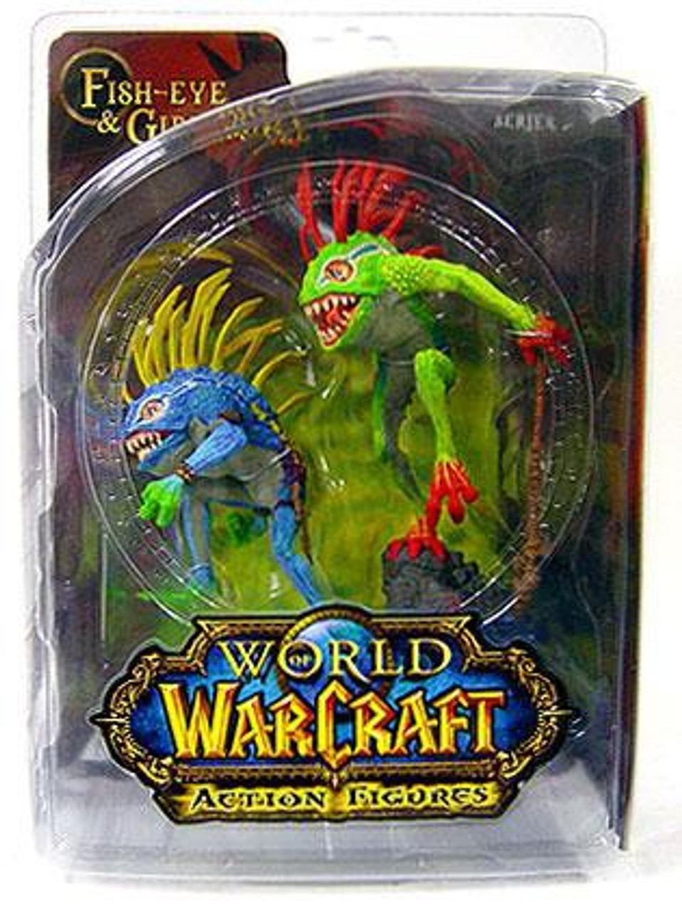 World of Warcraft Series 4 Fish-Eye & Gibbergil Murloc Action Figure 2-Pack [Green on Top]