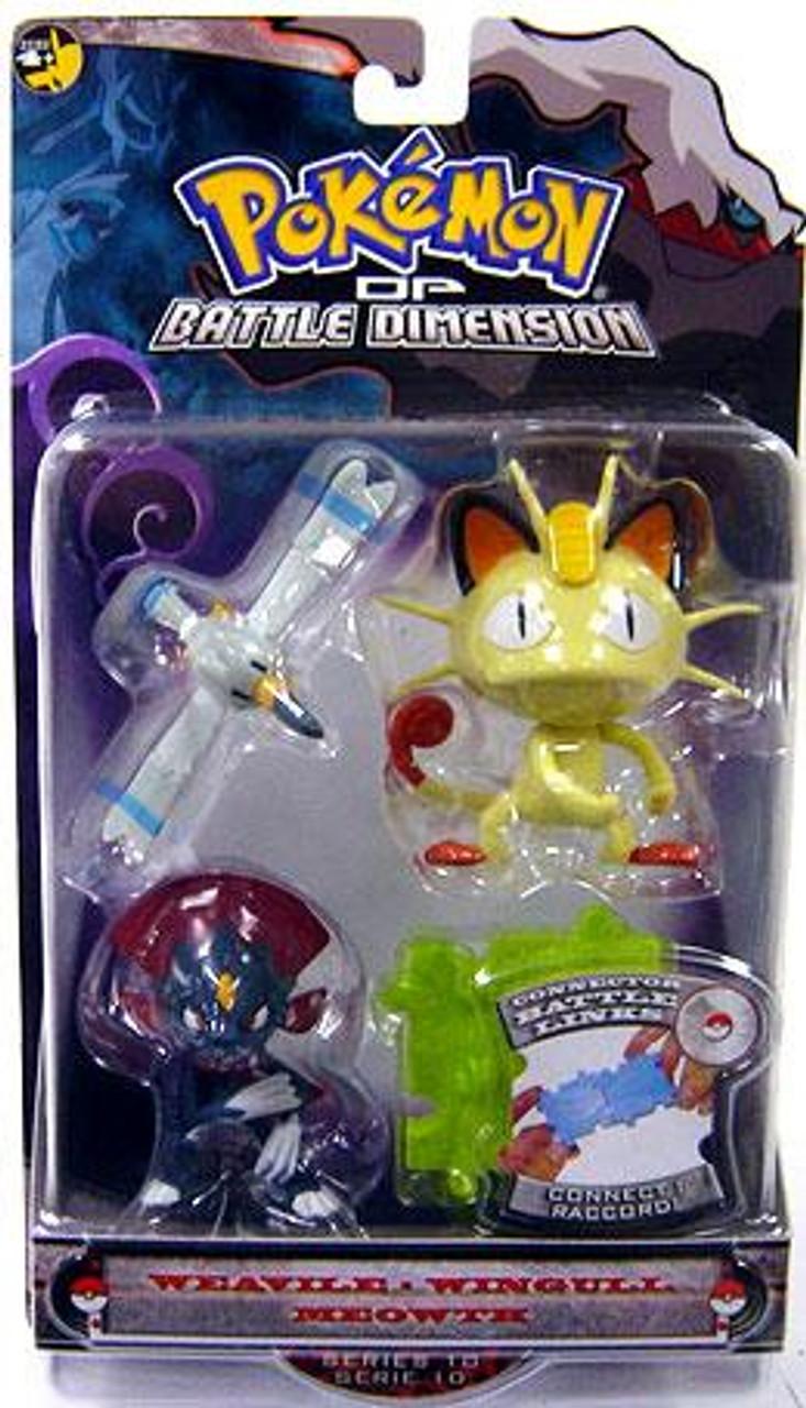 Pokemon Diamond & Pearl Series 10 Weavile, Wingull & Meowth Figure 3-Pack