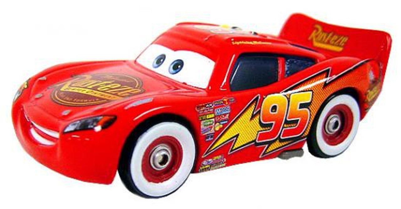 Disney Cars Loose Bumper Stickers Lightning McQueen Diecast Car [Loose]