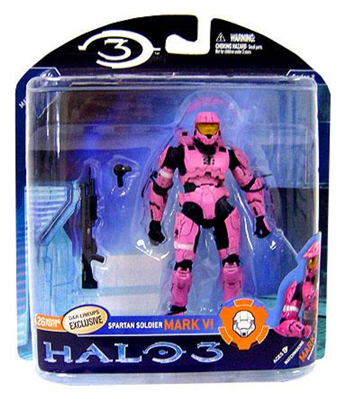 McFarlane Toys Halo 3 Series 2 Spartan Soldier Mark VI Exclusive Action Figure [Pink]