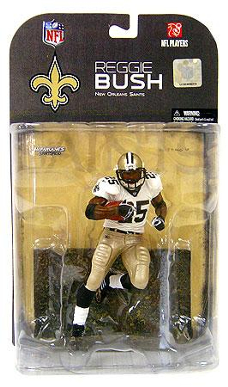 McFarlane Toys NFL New Orleans Saints Sports Picks Series 17 Reggie Bush Action Figure [Clean Jersey Variant]