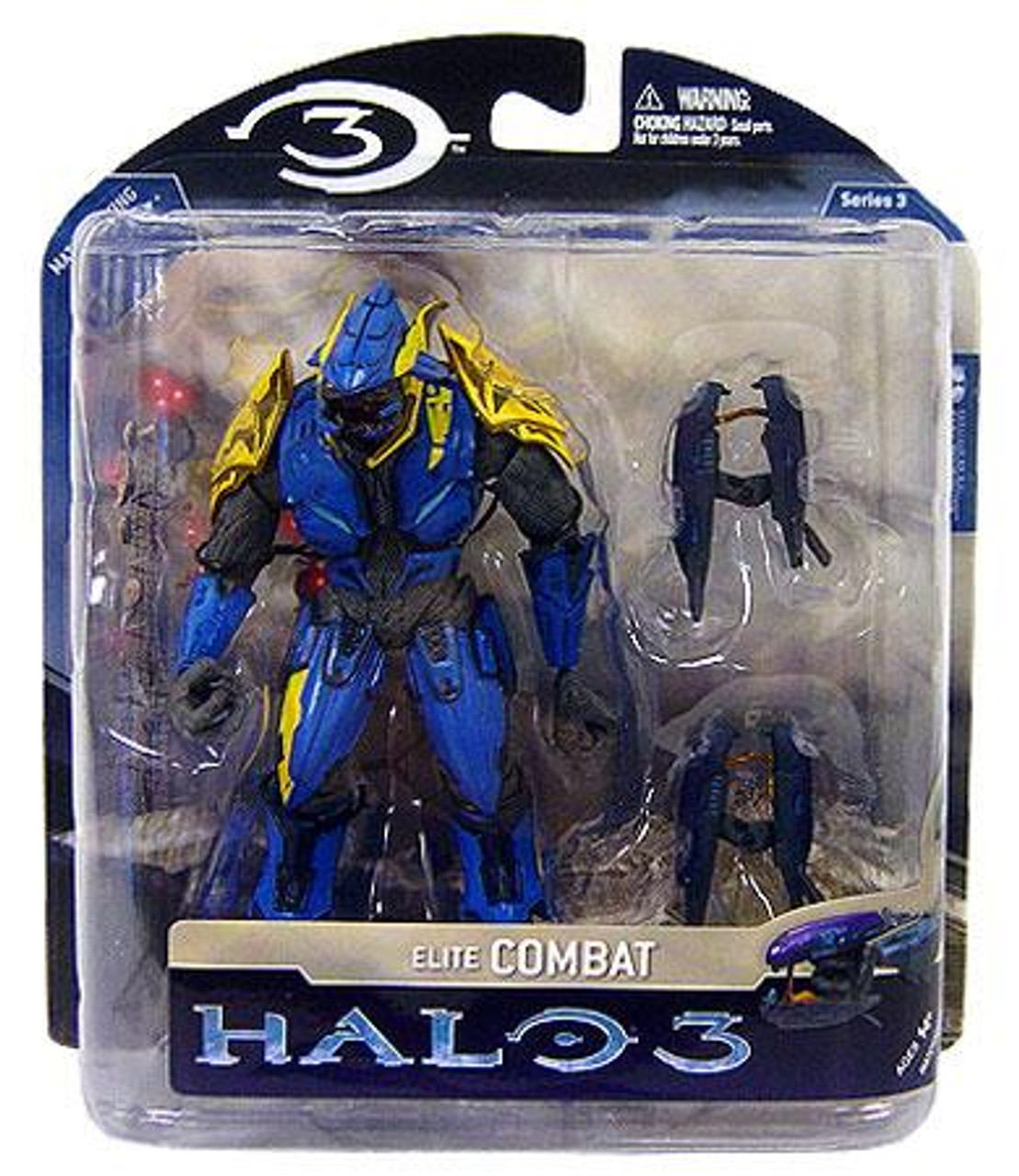 McFarlane Toys Halo 3 Series 3 lite Combat Exclusive Action Figure [Blue & Yellow]
