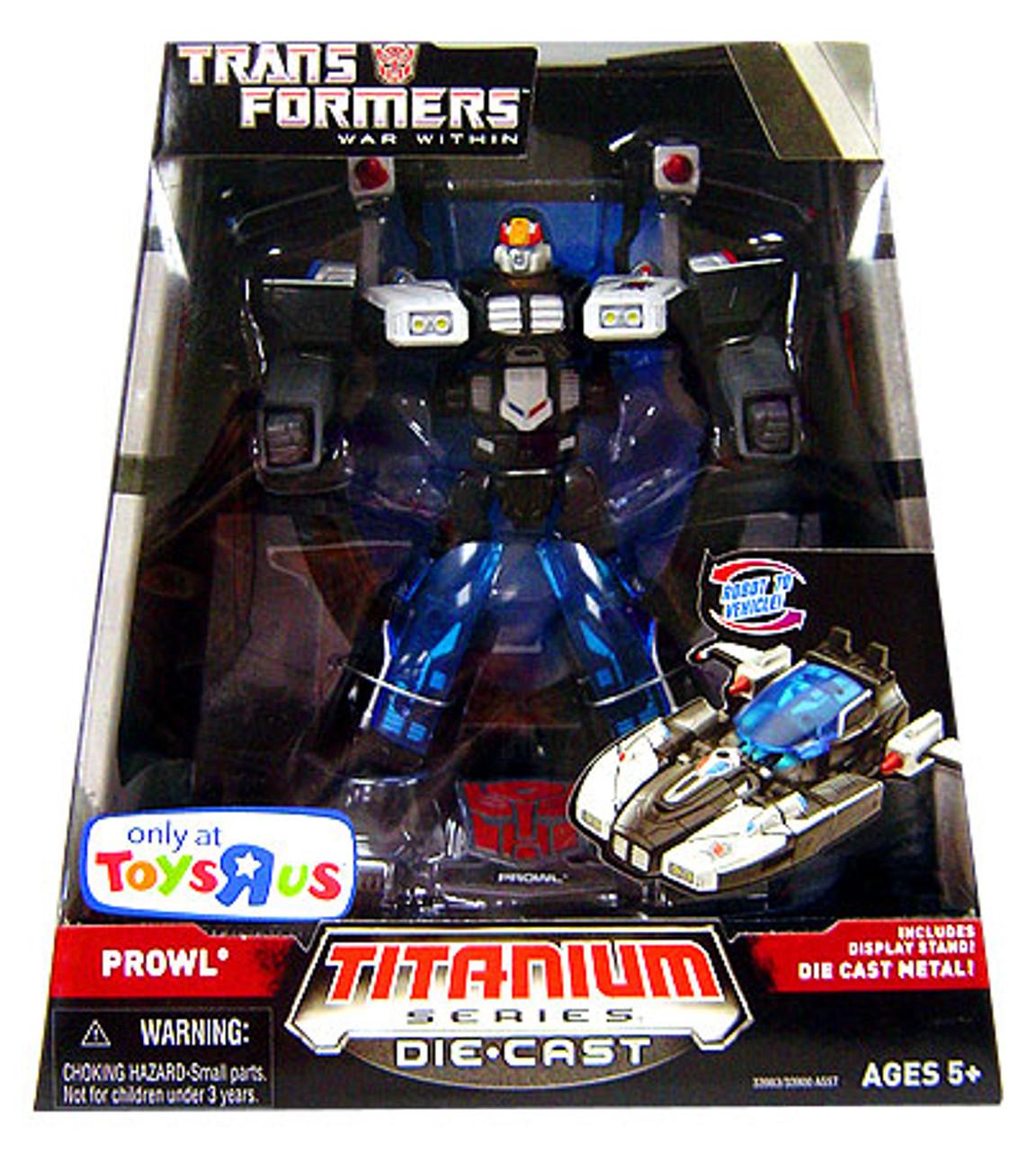 "Transformers War Within TItanium Series Prowl 6-Inch 6"" Diecast Figure"