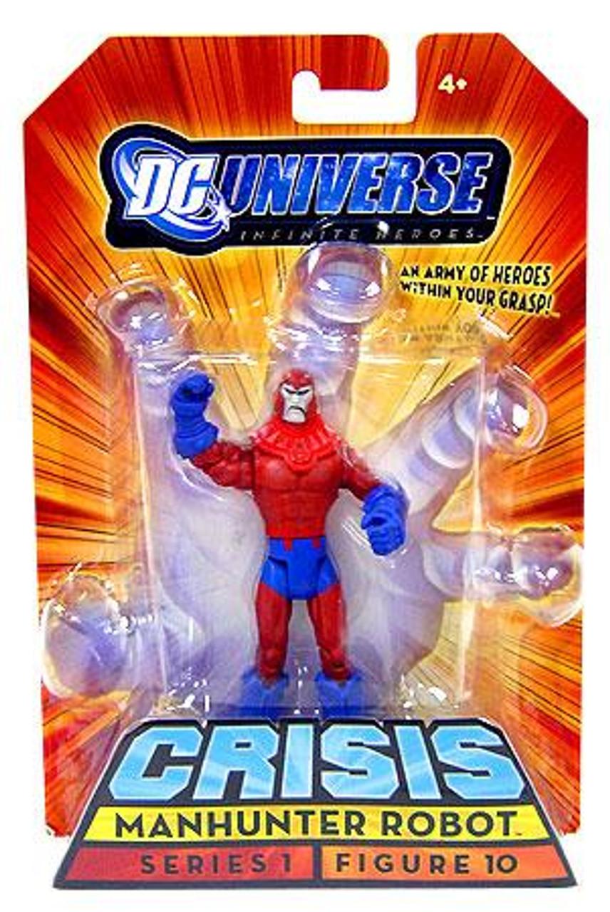 DC Universe Crisis Infinite Heroes Series 1 Manhunter Robot Action Figure #10