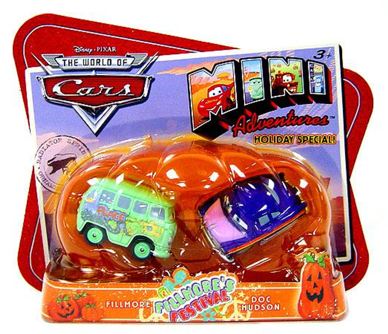 Disney Cars The World of Cars Mini Adventures Fillmore's Festival Exclusive Plastic Car 2-Pack [Fillmore & Doc Hudson]