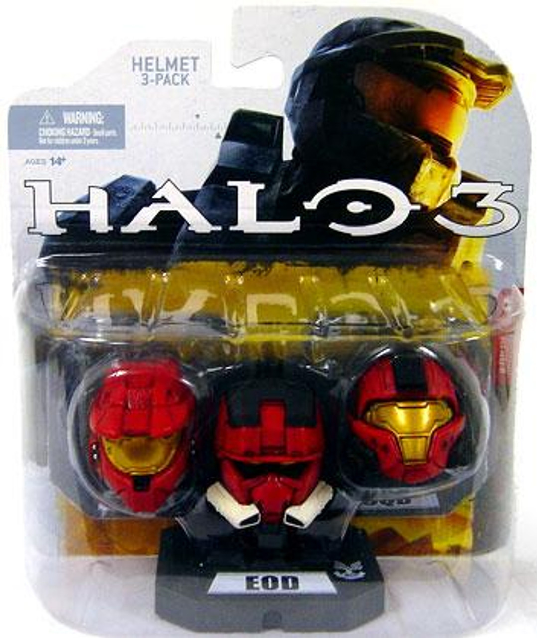 McFarlane Toys Halo Wave 1 Mark VI, EOD & CQB 12-Inch Helmet 3-Pack [Red]