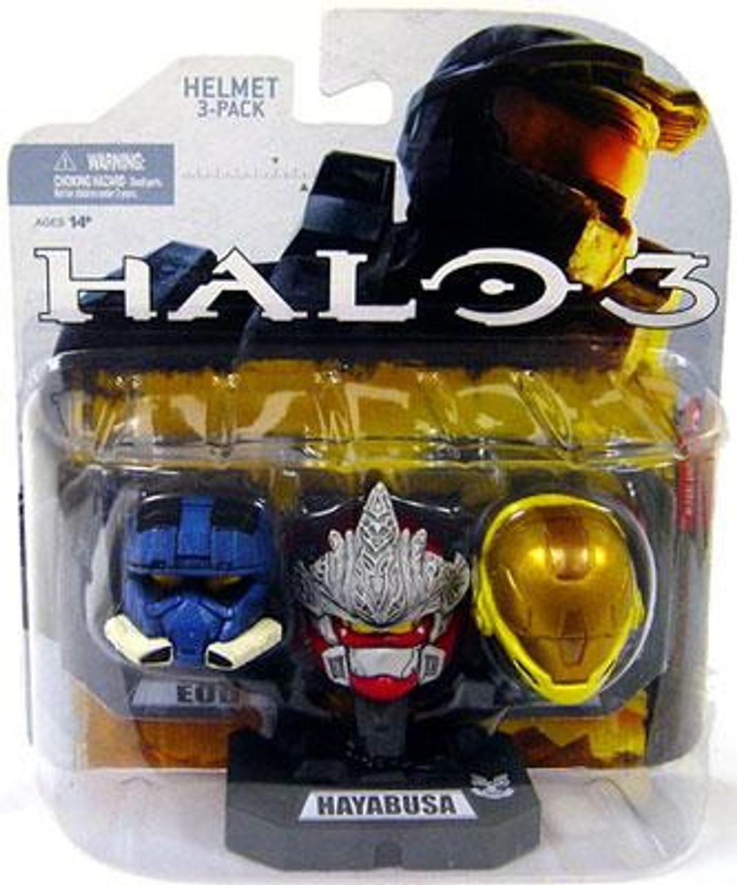 McFarlane Toys Halo Wave 1 Includes EOD, Hayabusa & EVA 12-Inch Helmet 3-Pack